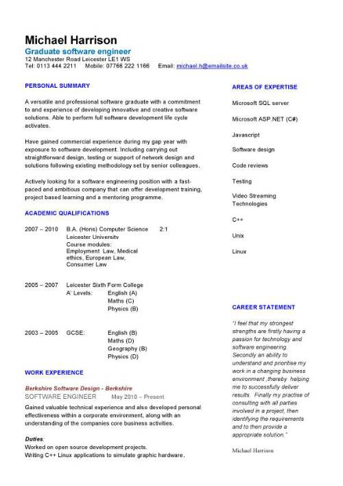 new graduate engineering resume template