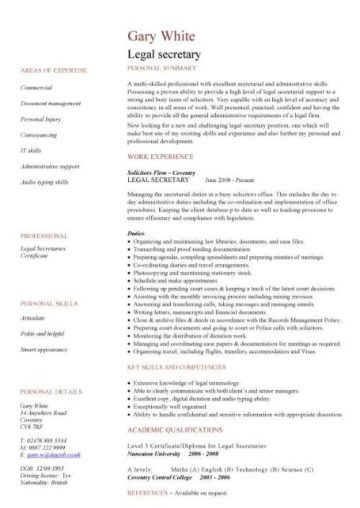 Use these legal CV templates to write a effective resume to show off