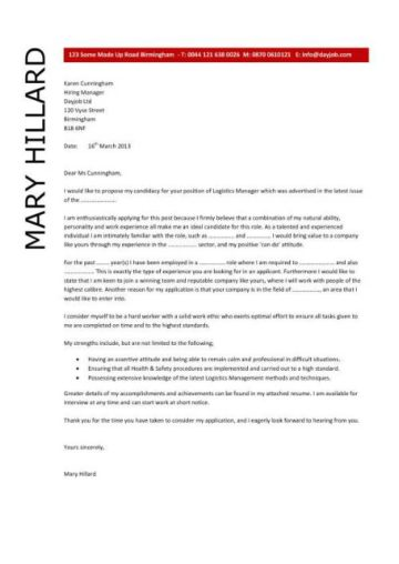cover letter template for emailed resume