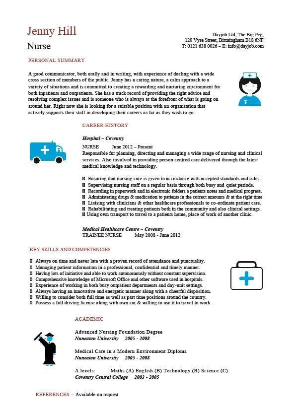 cv template registered nurse - Pinarkubkireklamowe