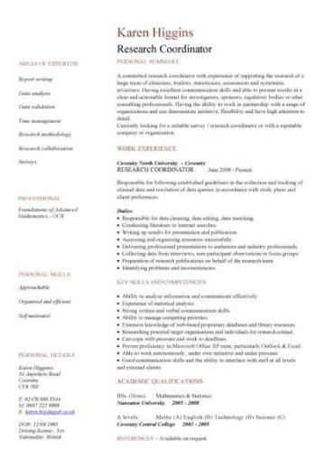 Academic CV template, Curriculum vitae, academic cvs, student