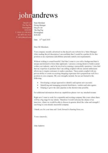 resume example marketing example of cover letter sales