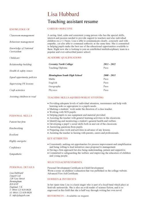 example resume for students applying for entry level position