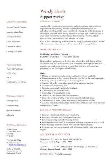social work cv template, social worker CV, Youth worker CV