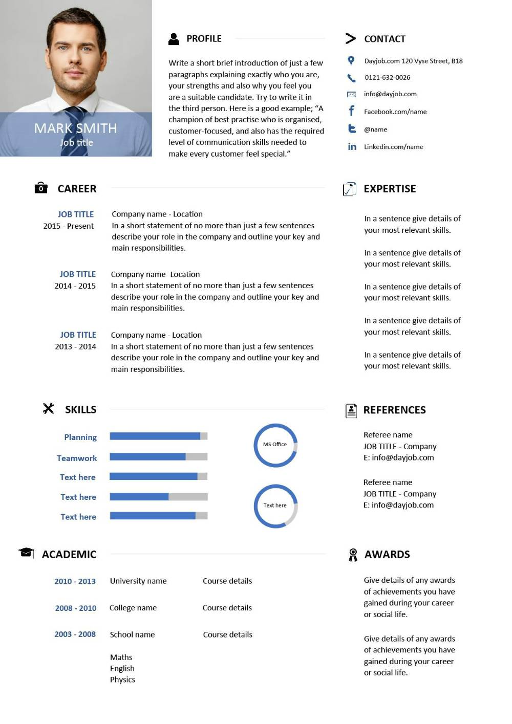 modern resume template free downloadable