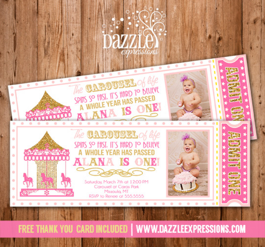 Birthday Ticket Invitations - free printable ticket style invitations