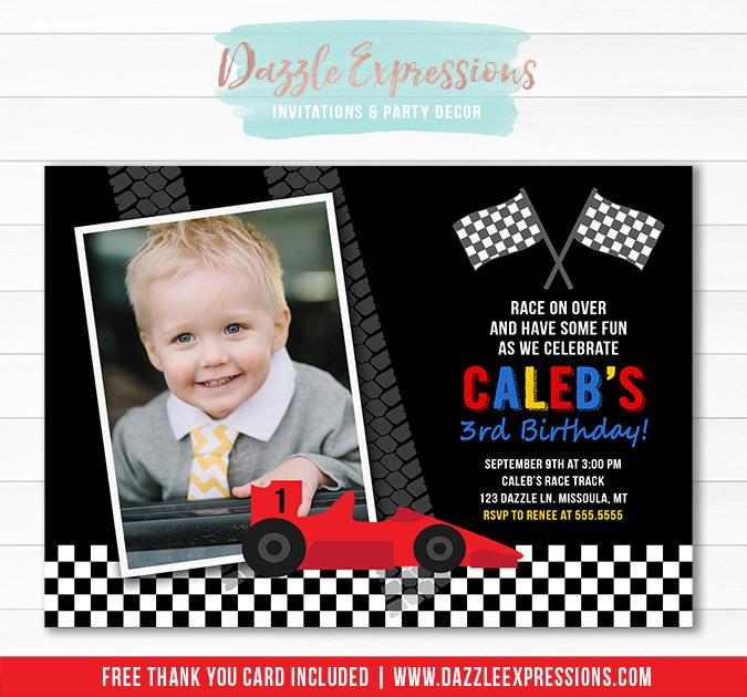 Printable Race Car Birthday Invitation - Hot Wheels - Nascar - FREE