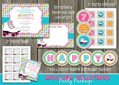 Roller Skating Birthday Invitations Free Printable - Custom Invitations
