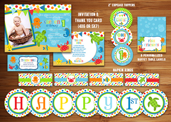 under the sea birthday party invitations free printable