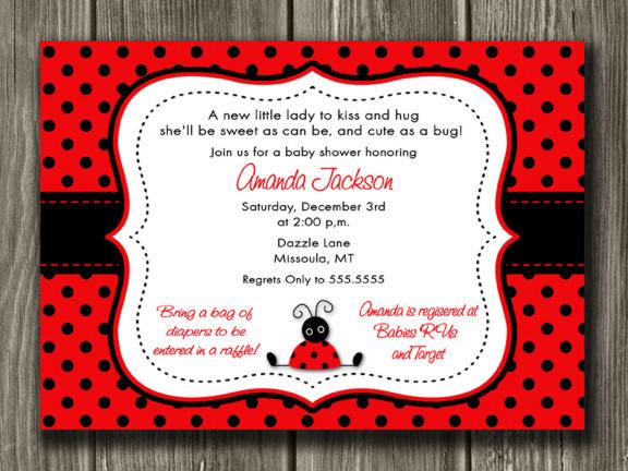 ladybug invitation template free
