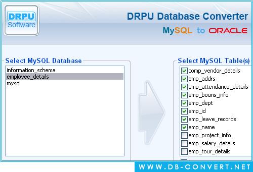 MySQL to Oracle Database Converter software convert records My SQL - sql convert