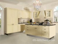 European old style beige color kitchen cabinet classic design