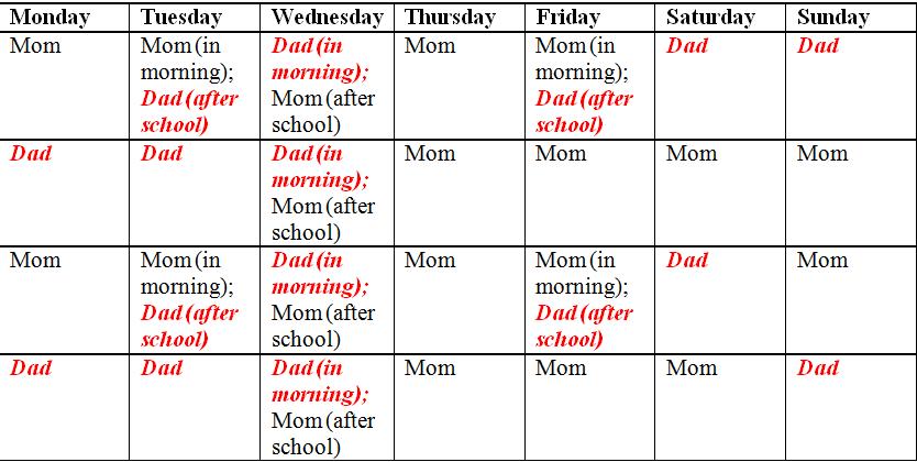 School Calendar Example School Calendar 2018 2019 Academic Calendar Templates Child Custody And Parenting Time