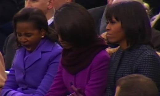 Sasha Obama Yawn: President's Daughter Gets A Bit Sleepy During Inoguration