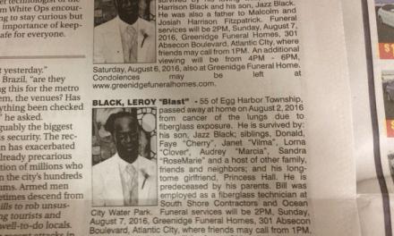 Leroy Blast Black Has Two Obituaries (PHOTO)