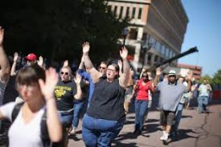 white protesters Ferguson