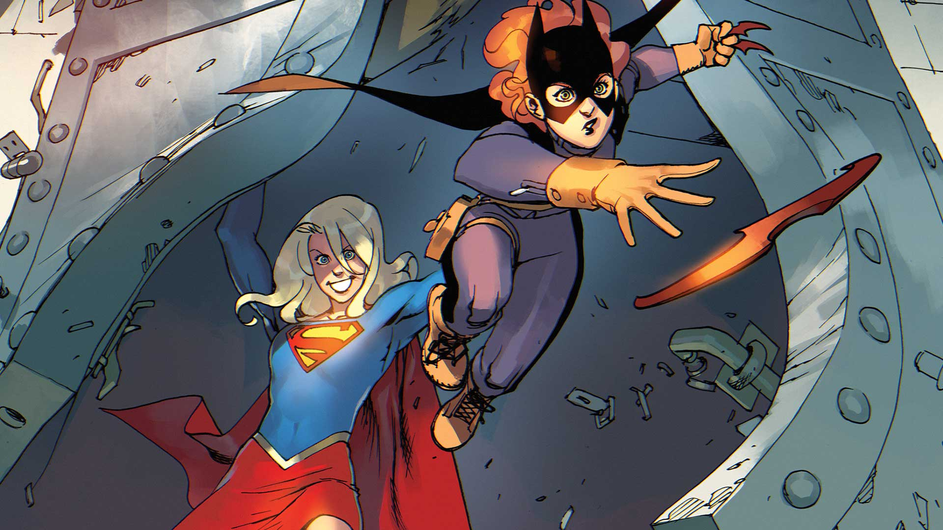 Cute Wallpapers For Girls In The Fall Batgirl And Supergirl Through The Multiverse Dc