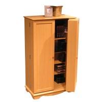 CD DVD Storage Cabinet in Beech   DCG Stores