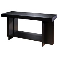 La Jolla Wood Console Table - Espresso, Rectangular Top ...