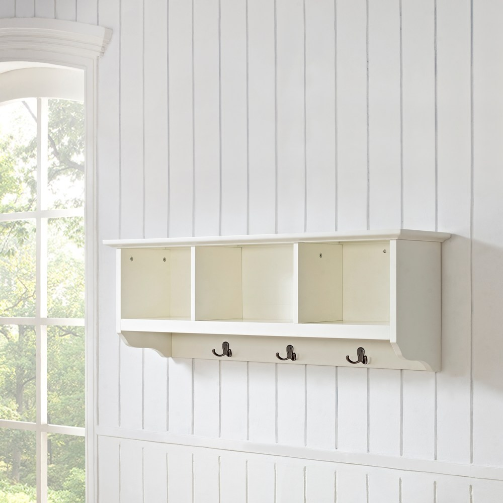 Brennan Entryway Storage Shelf White Dcg Stores