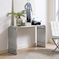 Pipe Stainless Steel Console Table | DCG Stores