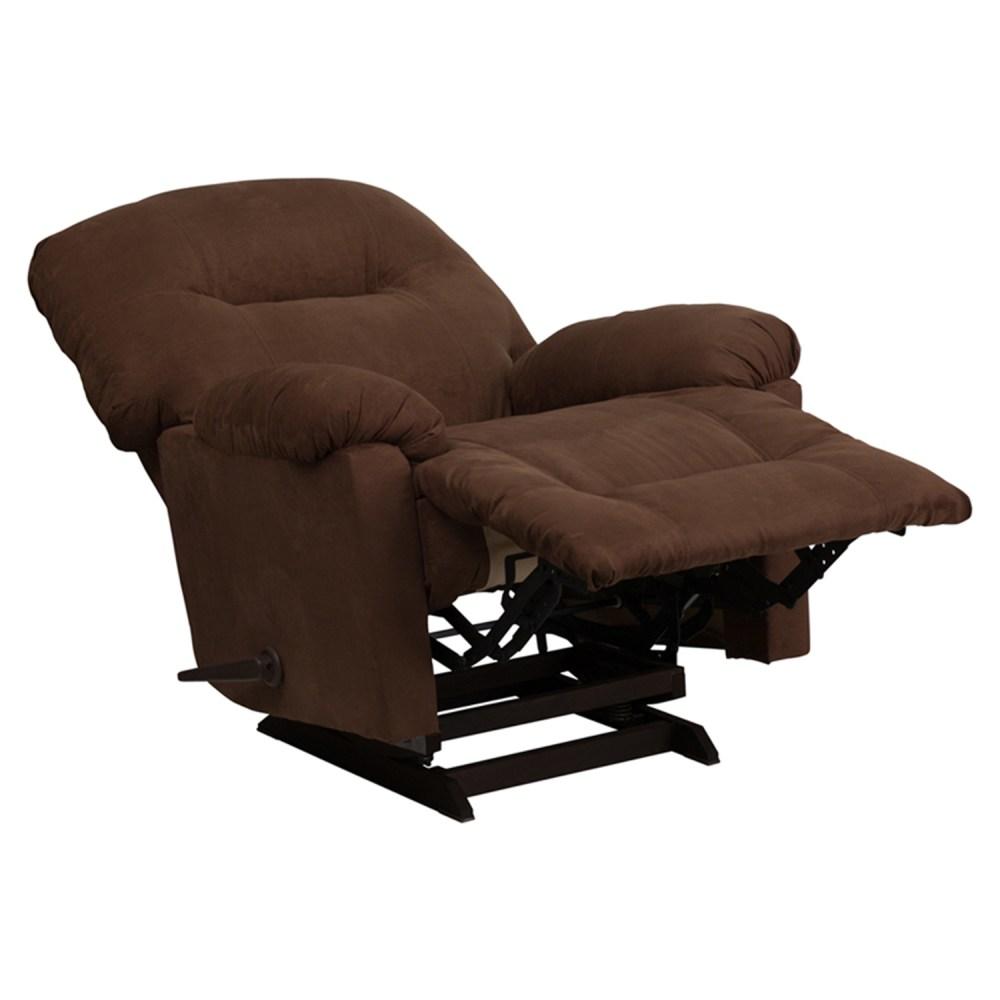 Calcutta Microfiber Rocker Chair Recliner Chocolate