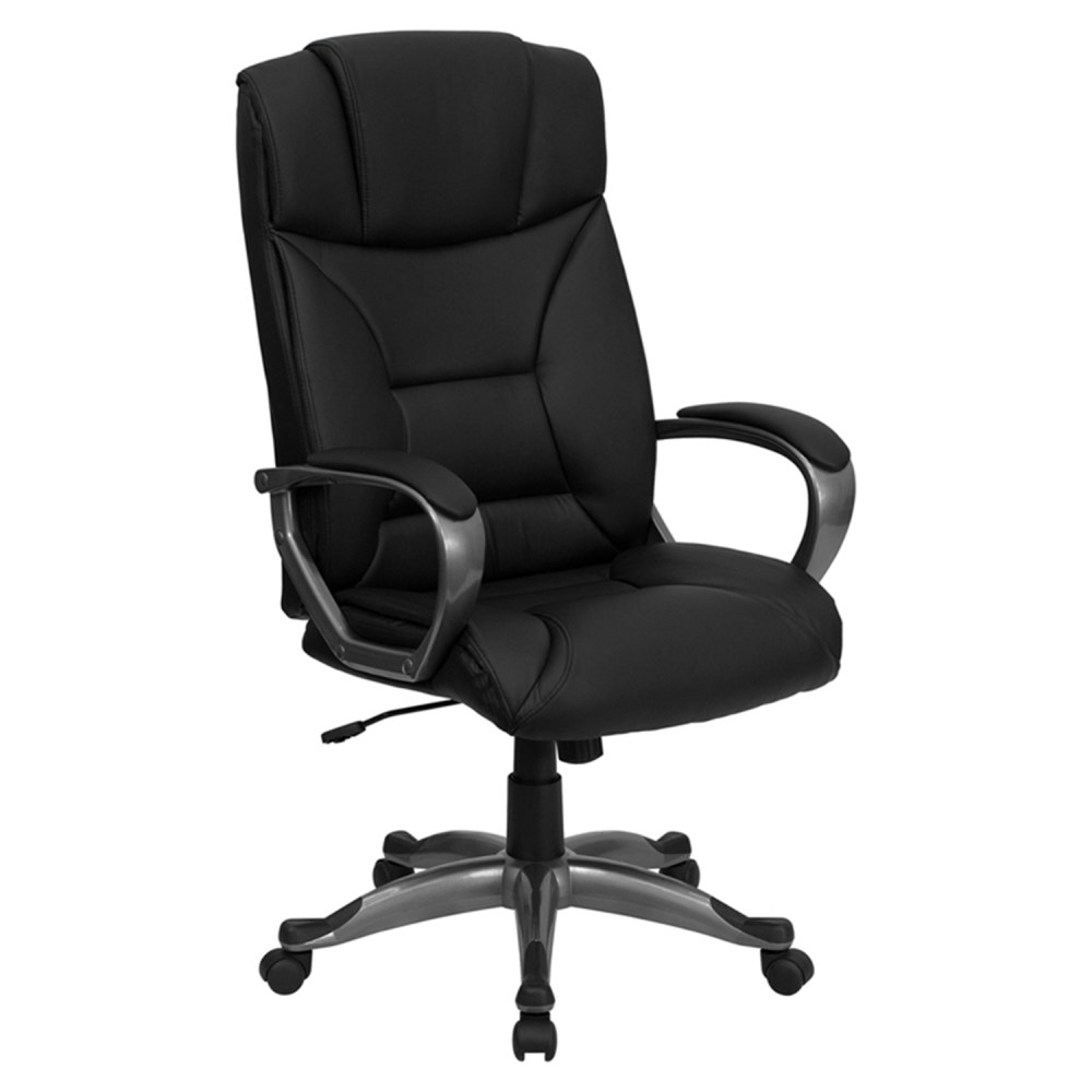 Leather Executive Adjustable Office Chair High Back