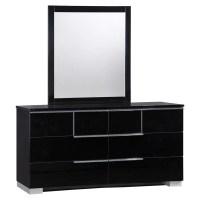 Hailey Bedroom Set in High Gloss Black