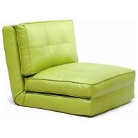 Brianna Sleeper Chair - Tufted, Folding, Single Bed, Green ...
