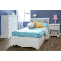 Crystal White Bedroom Set with Twin Mate's Bed | DCG Stores