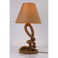 Modrest Blake Modern Rope Table Lamp - Brown   DCG Stores