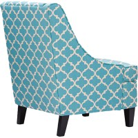 Lotus Patterned Armchair - Blue | DCG Stores