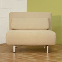 Elona Contemporary Convertible Chair - Cream | DCG Stores