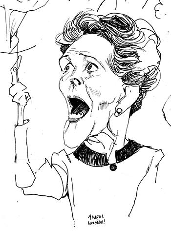 Sketchbook caricature, Mid-1980s