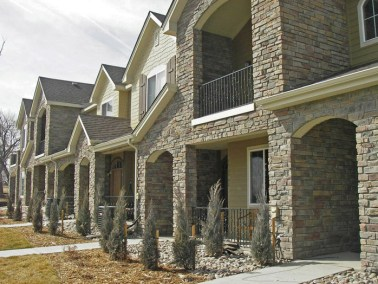 Typical Townhome - Stone Exterior