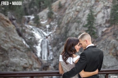 Seven Falls Colorado Winter Wedding Photography - Colorado ...