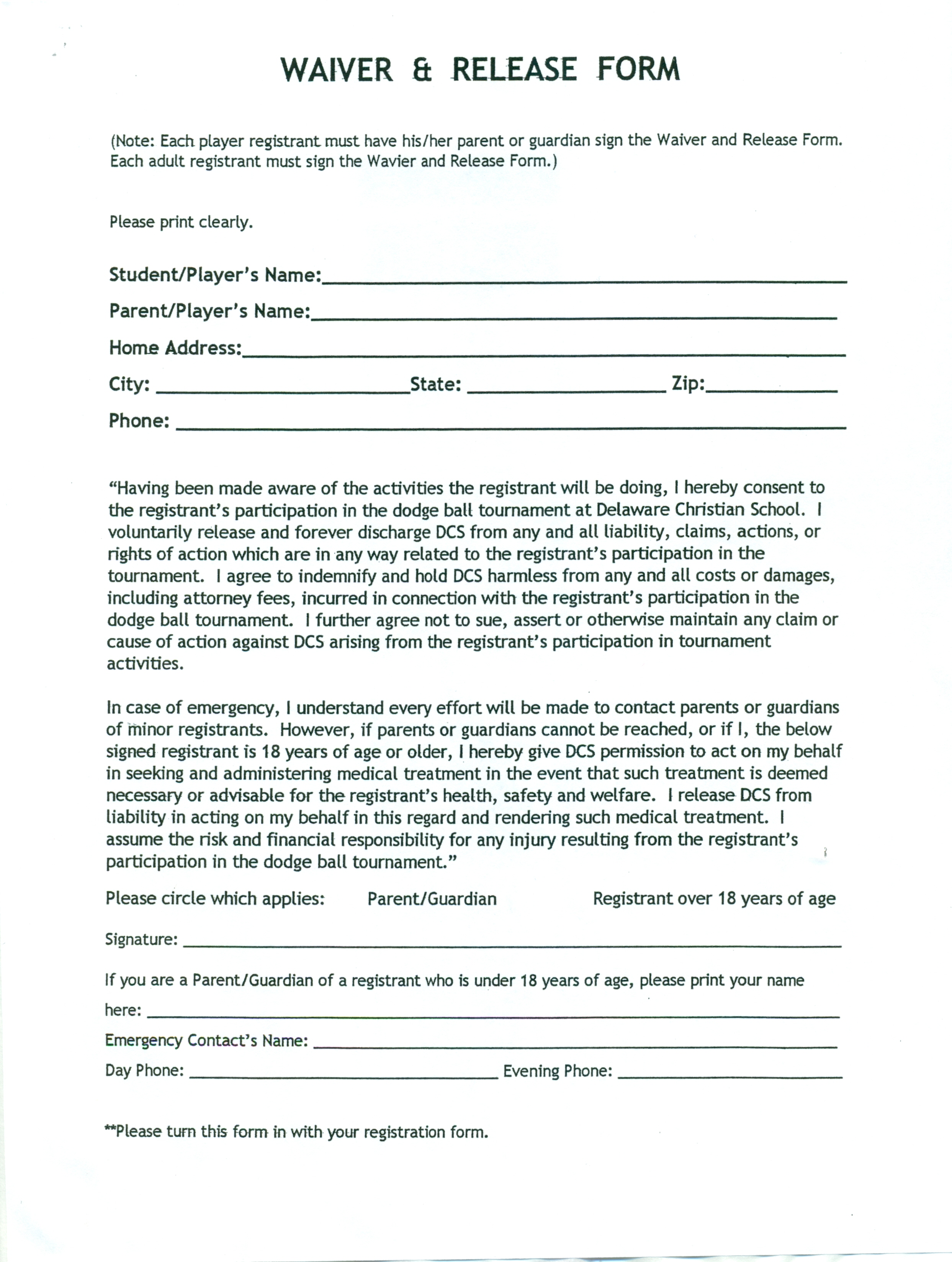 Doc17002200 Waiver Templates Waiver Template Release of – Liability Contract Template