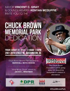 Chuck Brown Memorial Park Dedication