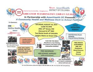 Greater Washington Urban League - Health and Wellness Back to School Festival-Flyer
