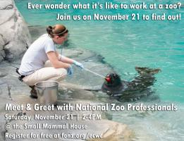 Meet and Greet with National Zoo Professionals 2015