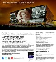 Smithsonian National Museum of African American History and Culture - Commemorate and Celebrate Freddom a Video Projection Event