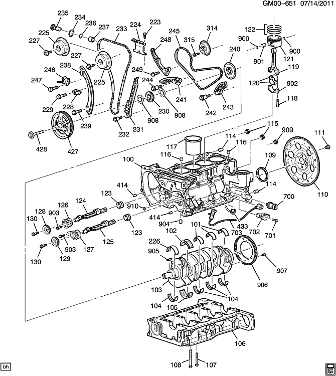 2 2 liter chevrolet engine diagram