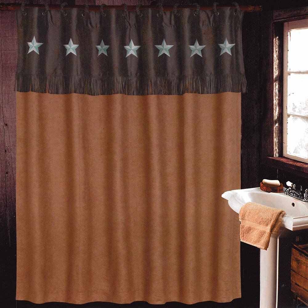 D amp d texas outfitters laredo luxury rustic shower curtain set