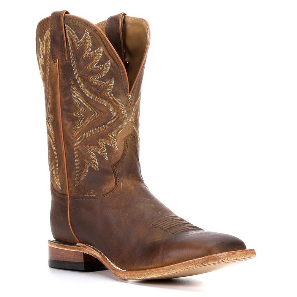 Tony Lama Tan Worn Goat Cowboy Boots