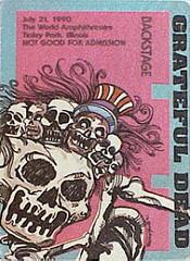 Backstage pass for Tinley Park 7.23.1990 Grateful Dead
