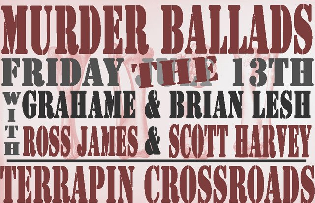 SETLIST: An Evening of MURDER BALLADS at Terrapin Crossroads