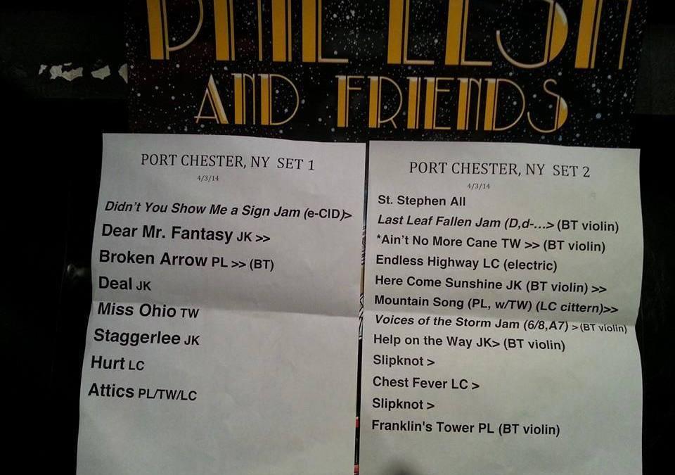 SETLIST: Phil Lesh & Friends – The Capitol Theatre,  Port Chester, NY – Thursday April 3, 2014
