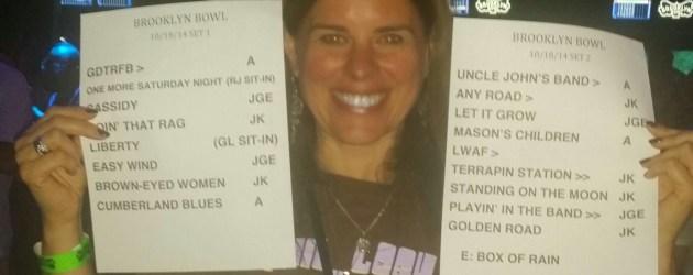 SETLIST:  Phil Lesh And Friends, Brooklyn Bowl, Las Vegas Saturday Oct. 18 2014