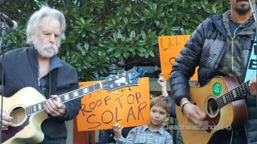 VIDEO (long clip): Marching for Solar Power w Bob Weir, Michael Franti, Sammy Hagar, J Bowman