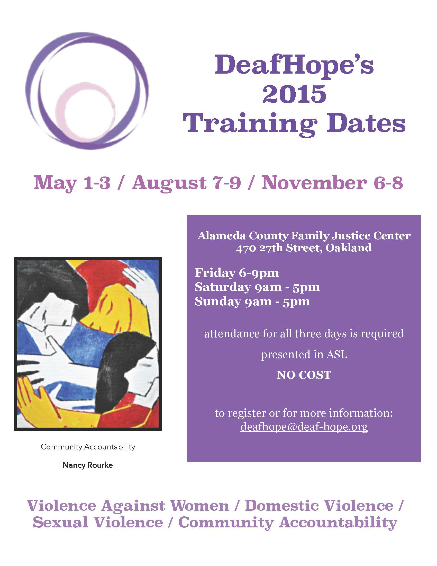 training announcement flyer